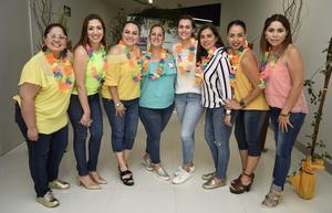12062019 REUNIóN MENSUAL DE JARDINERAS.  Blanca, Gaby, Brenda, Gaby, Mary Jose, Giselle, Saida y Cecy.