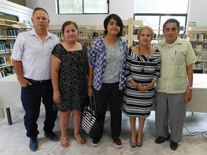 12062019 Víctor Villarreal Barragán, Irma Pesqueira Leyva, Paola Herrera Pesqueira, Irma Leyva Ramos y Francisco Pesqueira Carrasco.