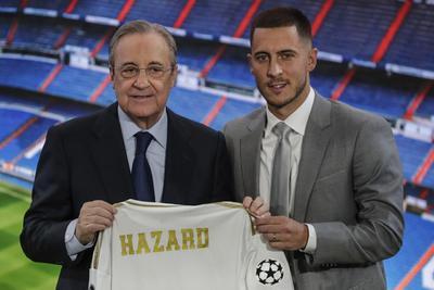 Florentino Pérez, presidente del Real Madrid, dijo este jueves, durante la presentación oficial de Eden Hazard, que el conjunto blanco contará a partir de la próxima temporada con un jugador maravilloso, al que calificó como distinto.