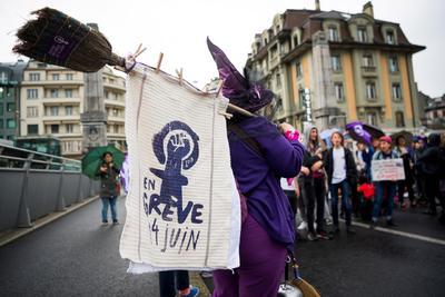 Unos cuatro millones de mujeres fueron llamadas a la huelga en Suiza.