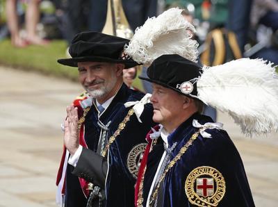 Fue una solemne ceremonia celebrada en el Castillo de Windsor.