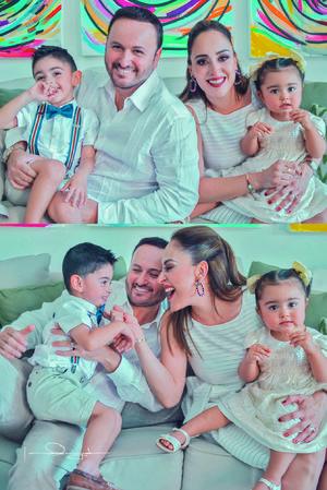 16062019 Ricardo Piñera Valdez y su esposa, Pita Zavala Jardón, acompañados de sus hijos, Richie Piñera Zavala y Mariangel Piñera Zavala.- Estudio Laura Grageda