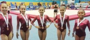 16062019 DESTACADAS ATLETAS.  Laguneras ganaron el tercer lugar nacional por equipos de gimnasia artística en la Olimpiada Nacional en Cancún, Quintana Roo.
