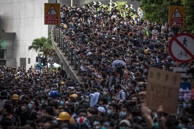 Las protestas siguen reclamando por los proyectos de ley de extradición.