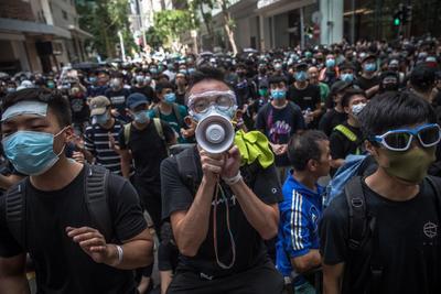 Regresaron las protestas a Hong Kong.