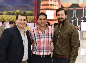Diego Rodríguez, Juan Carlos Villarreal y Andrés Garza