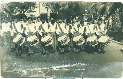 Recuerdo de la Banda de Guerra Esc. Popular No. 1. 1967-1971.