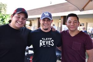 23062019 Charly Salinas, Frank Correa y Cristian Mijares.