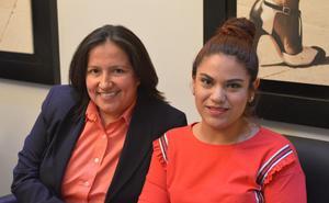 25062019 POSAN PARA LA FOTO.  Ancire Sánchez y Fabiola Ibarra.