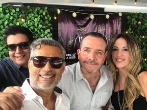 25062019 EN RECIENTE FESTEJO.  Rafa, Gerardo, Pablo y Yaqui.