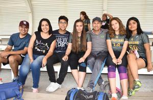 25062019 EN EVENTO DEPORTIVO.  Tomás, Dulce, Axel, Mariana, Raymundo, Natalia y Mirna.