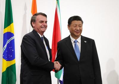 Bolsonaro y Xi Jinping de China.