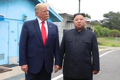 Trump tuiteó sobre ser el primer presidente estadounidense en pisar Corea del Norte.