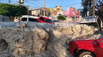 Sorprende granizada histórica a Guadalajara