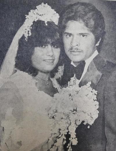 San Juana Chávez Chávez (f) y Armando Áva- los Encina el día de su matrimonio el 9 de ju- nio de 1979.