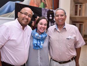 30062019 EN EL TEATRO.  Ramiro Flores, Raquel Morales y Javier de La Torre.