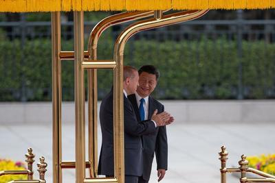 Xi y Erdogan presidieron la ceremonia.