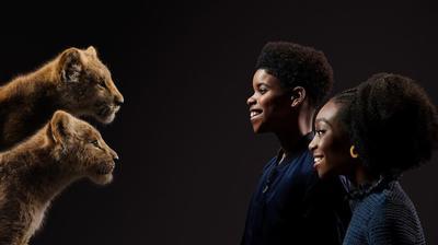 J.D. McCrary y Shahadi Wright son Simba y Nala jóvenes.