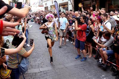 Madrid celebró su tradicional Carrera de Tacones.
