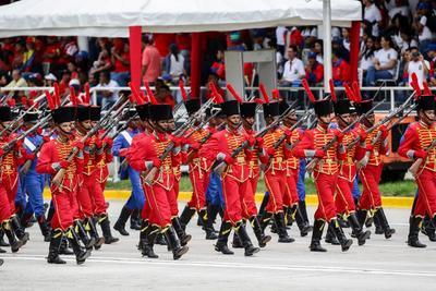 El desfile fue convocado por el gobernante, Nicolás Maduro.