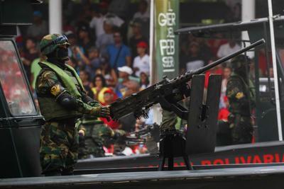El desfile se realizó en Caracas.