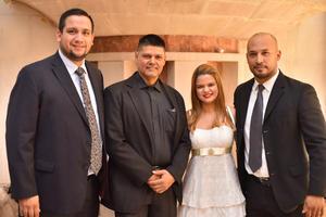 Eduardo, Rigoberto, Shely y Omar