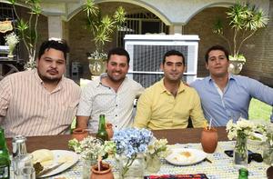 Ricardo Jiménez, Carlos Montana, Willie Dávila y Armando Villarreal