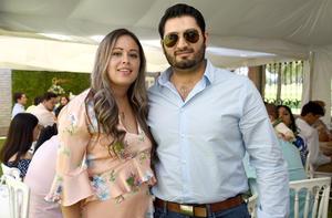 Samantha Duarte y Carlos Aguirre