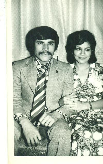 Roberto y Guille en 1974.