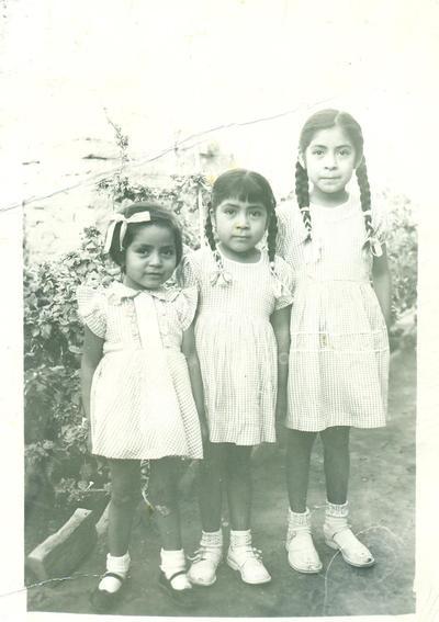 Carmen, Rosa y Concha Jacobo.