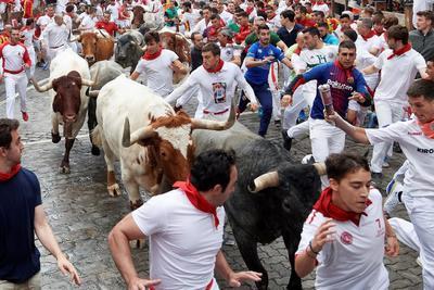 El encierro fue protagonizado por la ganadería de José Escolar.