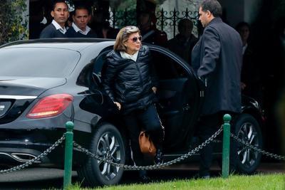 Inés Pertine, viuda del expresidente argentino Fernando de la Rúa.