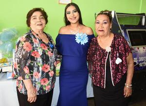 11072019 BABY SHOWER.  Luisa Salas Maldonado con sus abuelas, María de los Ángeles Gallegos y Guadalupe Silveyra Acosta, en su fiesta de canastilla. Se comentó que Luisa será mamá de un lindo bebé al que llamará Luis Armando.