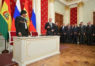 Evo Morales se encuentra en Rusia.