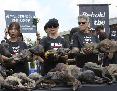 Entre los manifestantes estuvo la actriz estadounidense Kim Basinger.