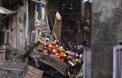 Los hechos ocurrieron en el barrio de Dongri de la congestionada ciudad.