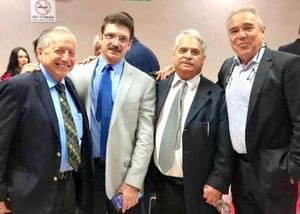 17072019 FESTEJAN.  Maurilio Ochoa, Arturo Novelo, Felipe García y Manuel Alberto Flores, en la celebración con motivo del Día del Abogado.