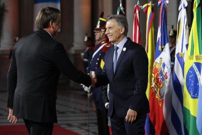 Macri y el presidente de Brasil, Jair Bolsonaro.