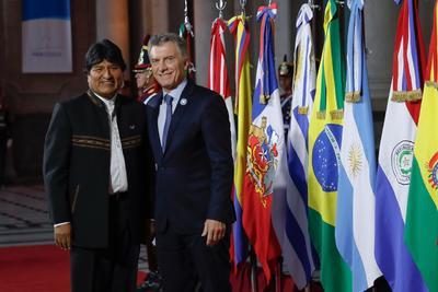 Con el presidente de Bolivia, Evo Morales.