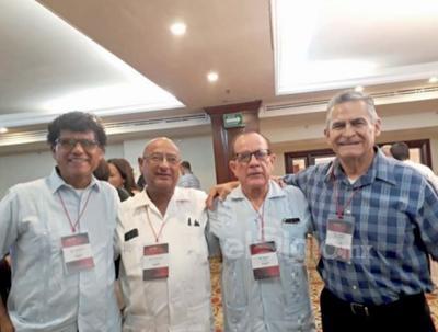 Alberto, Gustavo, Rubén y Jorge.