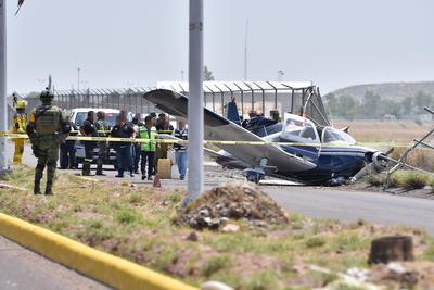 El piloto resultó lesionado y fue trasladado a un hospital privado.