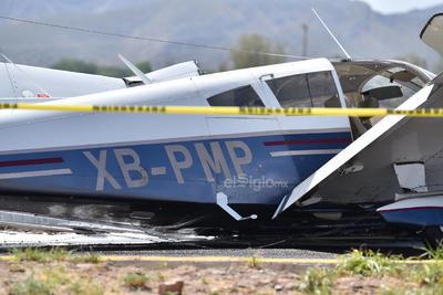 Se desplomó una avioneta Piper Cherokee de cuatro plazas, de color azul con blanco, con número de matrícula XB-PMP.