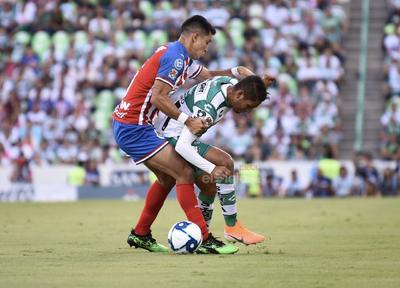SANTOS VS CHIVAS TORNEO APERTURA 2019  TORNEO DE APERTURA 2019 PRIMER TIEMPO SANTOS 2 CHIVAS DE GUADALAJARA 0