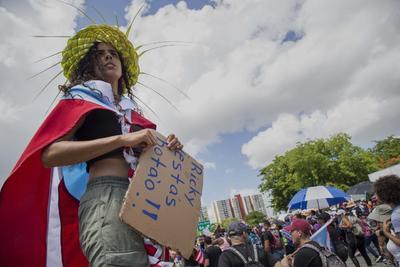 Miles de puertorriqueños volvieron a salir a las calles.