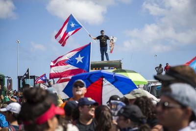 Continúan las manifestaciones contra el gobernador Ricardo Rosselló.