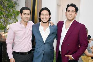 Eduardo, Christian y Gabriel