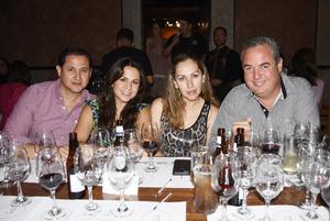 Iván, Melina, Dely y Ernesto