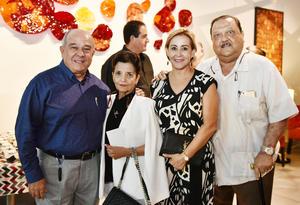 Ricardo y Cecilia Cisneros, César y Rocío Villalobos
