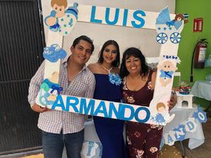 23072019 FIESTA DE CANASTILLAL.  Luisa Salas Maldonado y sus seres queridos esperan la llegada de Luis Armando. Las organizadoras de su baby shower fueron Elizabeth Maldonado y Victoriana López.