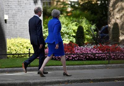 May le deseó éxito y le pidió trabajar a favor de la salida del Reino Unido de la Unión Europea.